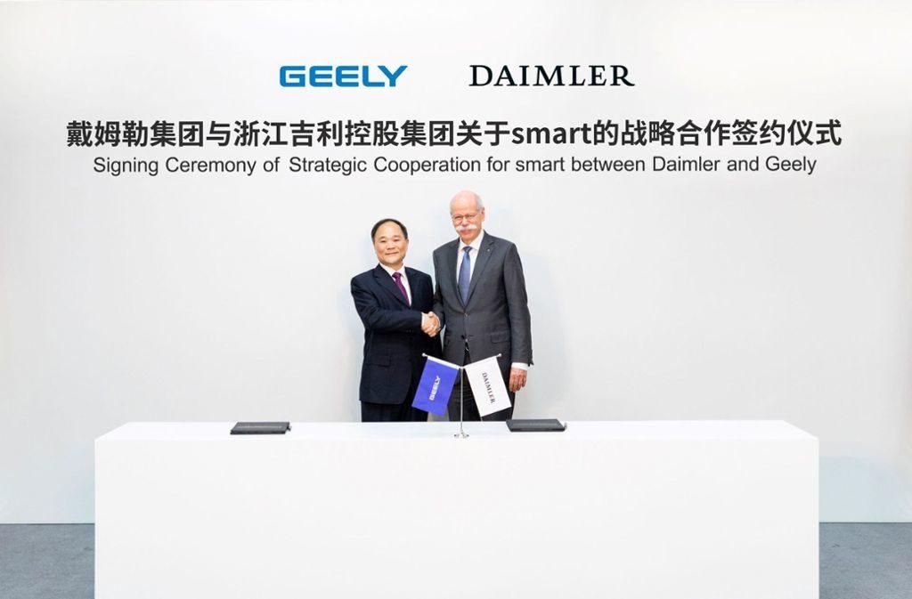 Daimler und Geely teilen sich zukünftig die Marke Smart