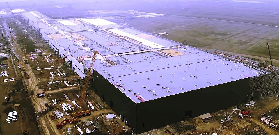 Tesla Gigafactory 3 in Shanghai Bauphase 1