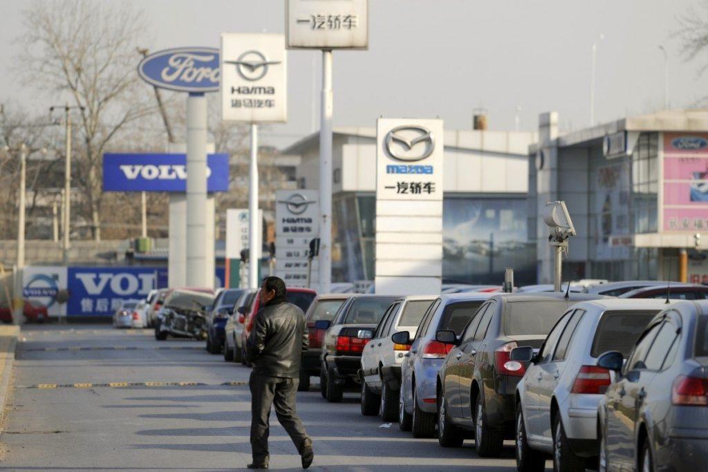 Rückläufiger Autoabsatz in China