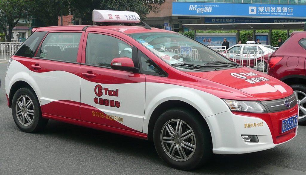 BYD Auto e6 Elektroauto Taxi